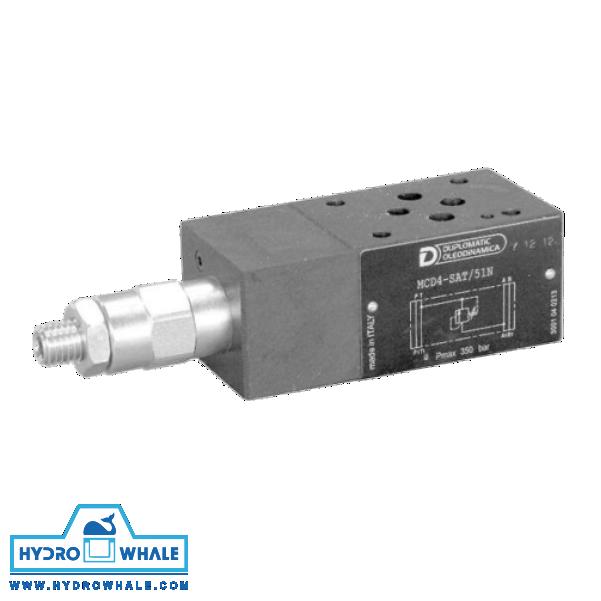 شیر هیدرولیک کنترل فشار دوپلوماتیک- MCD-فروشگاه هیدروال