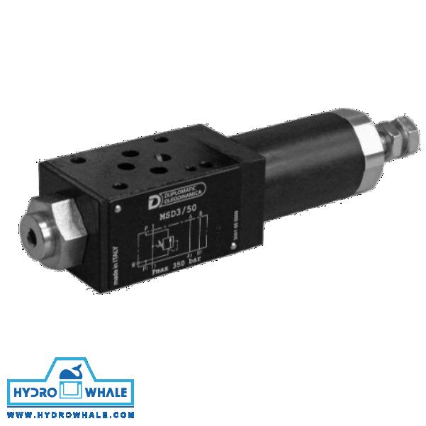 شیر هیدرولیک کنترل فشار دوپلوماتیک - MSD- فروشگاه هیدروال